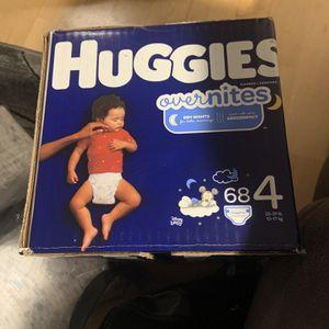 Unopened Box - Huggies Overnights - Size 4 for Sale in Phoenix, AZ