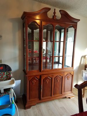 Solid wood china cabinet for Sale in Covington, GA
