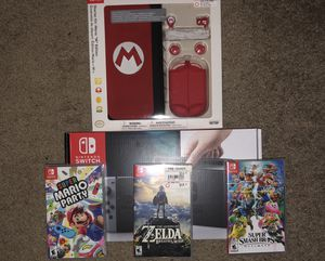 Nintendo Switch, Case, 3 games! for Sale in Virginia Beach, VA