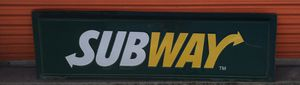 SUBWAY SUBS RESTAURANT,FAST FOOD ADVERTISING,HIGHWAY,INTERSTATE,DURABLE for Sale in Bay City, MI