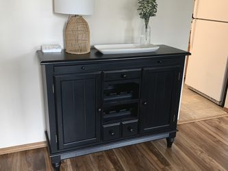 Black Wooden Buffet Side Board Side Table for Sale in Bothell,  WA