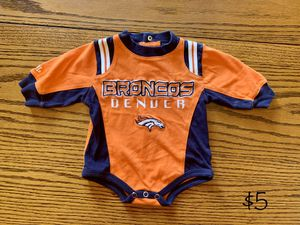 Denver Broncos ~ Baby Clothes ~ Onesie ~ 0-3 Months for Sale in Thornton, CO