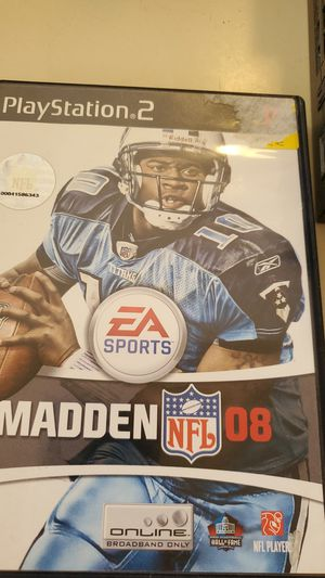 PS2 Madden NFL 08 for Sale in Phoenix, AZ