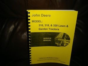 Service manual John Deere 316,318,320 mint condition for Sale in Kansas City, MO