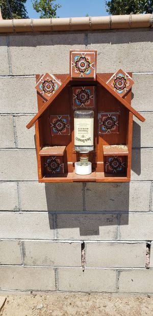Talavera decor outdoor bird water fountain for Sale in Fontana, CA