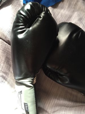 Black boxing gloves, and blue tape for Sale in St. Louis, MO