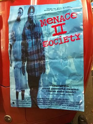 Original 1993 Menace II Society full size movie poster for Sale in Louisville, KY