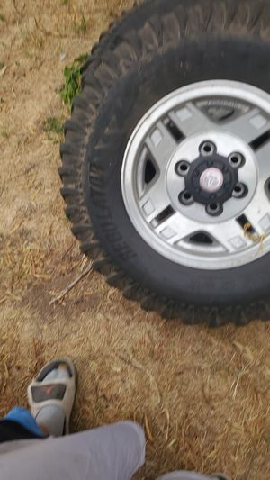 2 used rims and tires for Sale in Tucson, AZ