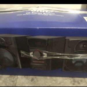 Cd stereo system 200W groove with Bluetooth and wireless technology for Sale in Las Vegas, NV