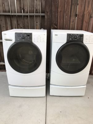 Kenmore washer and dryer with pedestals I'm in Ontario Ca for Sale in Ontario, CA