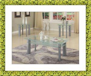 Glass white coffee table for Sale in Alexandria, VA