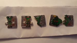 DISNEY PARKS HIDDEN MICKEY TOPIARY PIN SET 1 THROUGH 5 FULL SET 2007 for Sale in Fort Lauderdale, FL