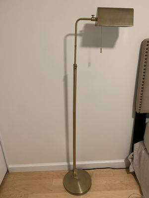 Brass Library Floor Lamp - $75 for Sale in New York, NY