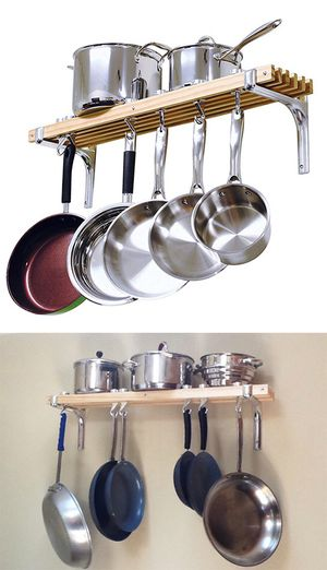 """(NEW) $30 Kitchen Wall Mounted Wooden Pot Rack 36x8"""" Storage Shelf Hooks for Sale in Pico Rivera, CA"""