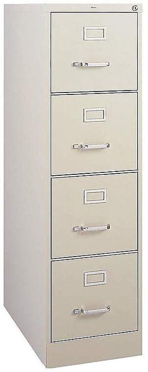 Staples 470383 4 Drawer Vertical File Cabinet Metal Putty Letter Size 26.5 inch D for Sale in Alexandria, KY