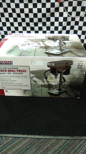 """Central Machinery 8"""" Bench Drill Press with Work Light $60 for Sale in Rockford, IL"""