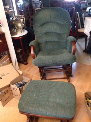Gilder chair with ottoman for Sale in Rockville, MD