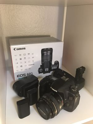 Canon 60D 50mm f/1.4 Battery Grip Kit in Original Box for Sale in Los Angeles, CA