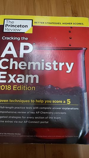 Cracking the AP Chemistry Exam 2018 Edition for Sale in Ontario, CA