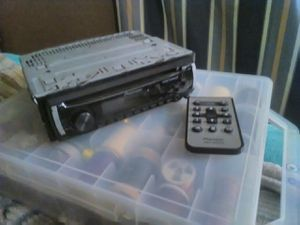 Pioneer Detachable faceplate Cd radio w/ Remote& mounting sleeve for Sale in Knoxville, TN