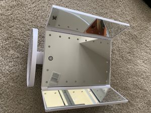 BESTOPE Makeup Vanity Mirror with 21 LED Lights, 3X/2X Magnifying Led Makeup Mirror with Touch Screen,Dual Power Supply,180° Adjustable Rotation,Coun for Sale in Irvine, CA