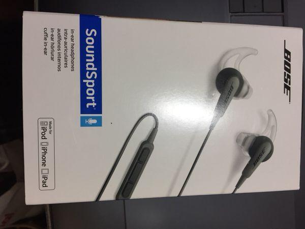 Bose sound sport in-ear head phones