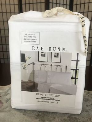 Rae Dunn SLEEP KING Bed Sheet Set for Sale in San Bernardino, CA