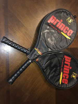 "2 Prince Synergy Series Power Pro Titanium 27"" Tennis Racket with cover for Sale in Goose Creek, SC"