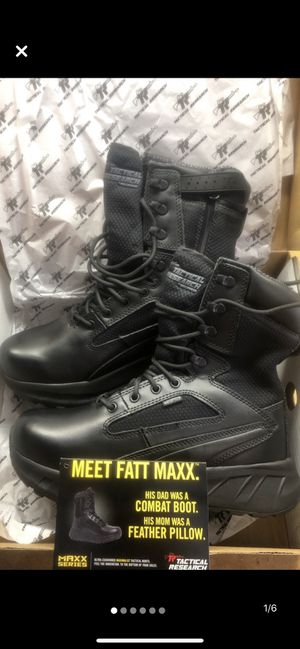 Brand New Black Leather Tactical / EMS Boots for Sale in Fayetteville, NC
