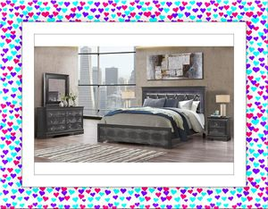 Metal Grey Bedroom Set New with Mattress for Sale in NEW CARROLLTN, MD