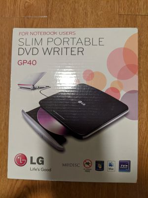 LG USB portable DVD writer & player for Sale in San Gabriel, CA