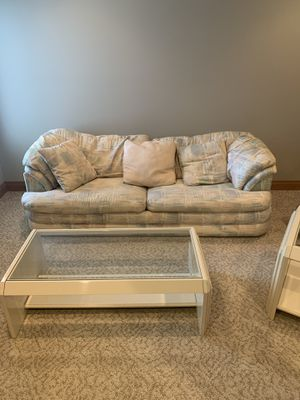 Couch, love seat, and foot rest for Sale in Fort Wayne, IN
