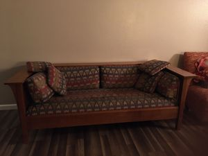 Mission chair and sofa for Sale in Moreno Valley, CA