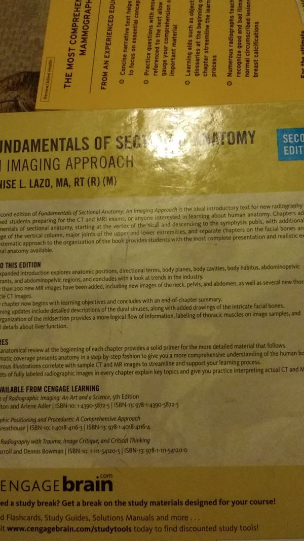 Fundamentals of Sectional Anatomy, 2nd ed.