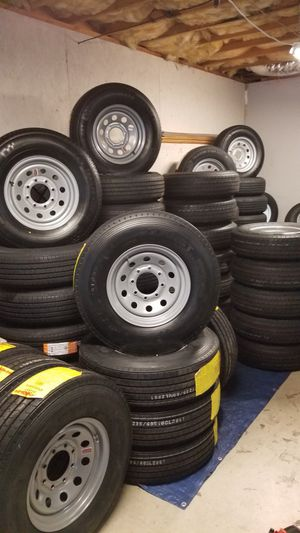 BRAND NEW TRAILER TIRES AND WHEELS $70 AND UP for Sale in Douglasville, GA