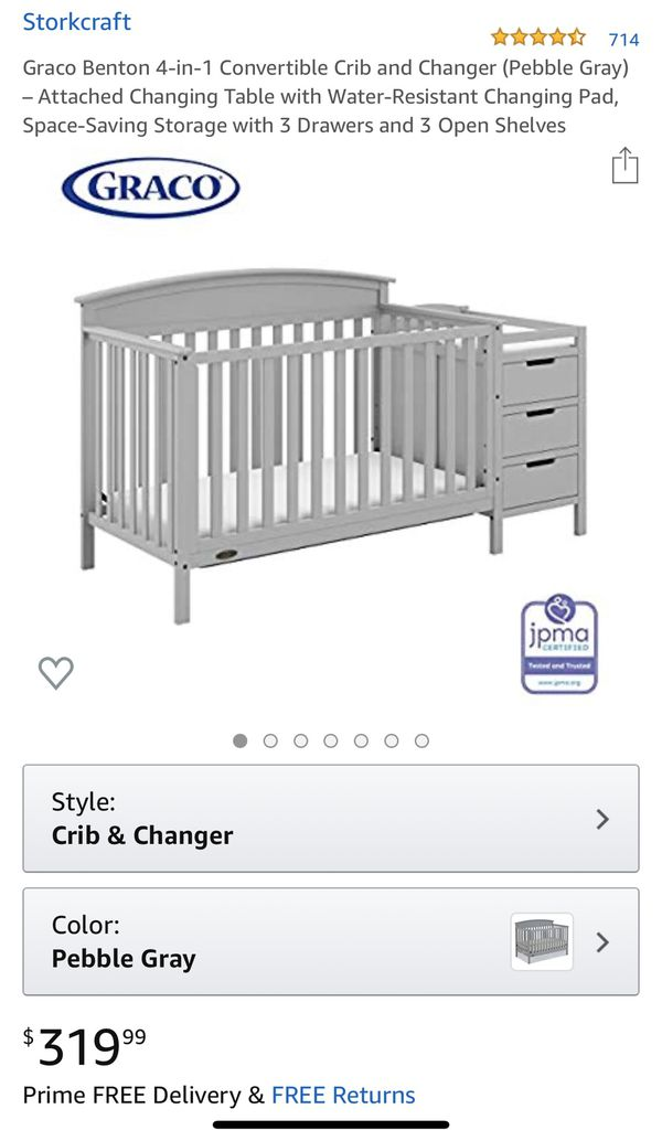 Graco Benton 4 in 1 crib with changer