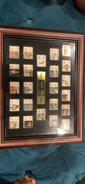 """Kodak Olympic Pin Set 1896-1996 """"A Century Of Excellence """" - Framed for Sale in Lorton, VA"""