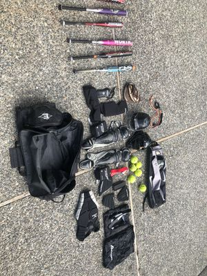 Softball gear $500 for all or bat and glove sold separately or best offer for Sale in Seattle, WA