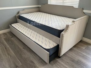 Twin/twin trundle with mattresses included for Sale in La Verne, CA