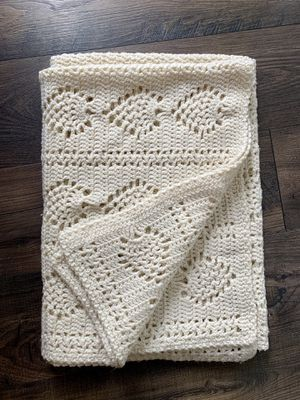 • handmade cream afghan accent throw blanket • for Sale in Issaquah, WA