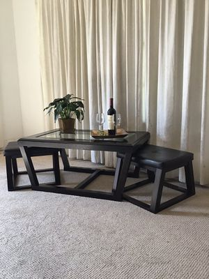 Coffee Cocktail Table with Stools from Ashley for Sale in Norwalk, CA