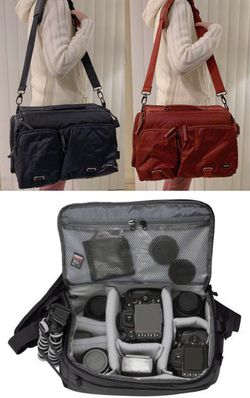 New in box cross body Navy or Dark Red Professional SLR Camera Bag cushioned for Sale in South El Monte,  CA