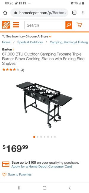 Barton outdoor camp stove for Sale in Fremont, OH