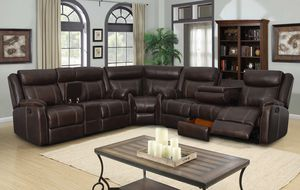 mocha sectional for Sale in Phoenix, AZ