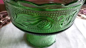 Vintage Emerald green compote for Sale in Kingsley, PA