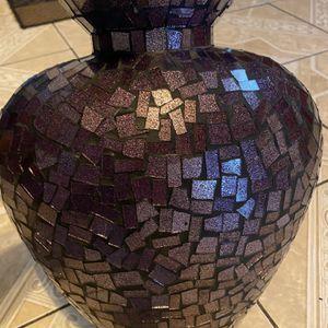 Purple Heart Mosaic Flower Vase for Sale in Bakersfield, CA