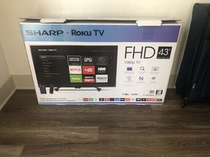 "Sharp 43"" TV with Roku for Sale in Atlanta, GA"
