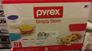 Pyrex 22-piece simply store glass storage for Sale in Houston, TX