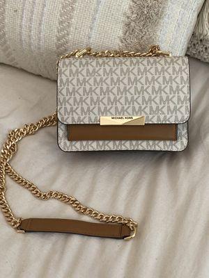 Michael Kors Jade Extra Small Logo Cross Body Bag Vanilla / Acorn for Sale in Los Angeles, CA
