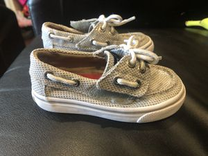 Size 5 Sperry's and toy story vans for Sale in Gaithersburg, MD